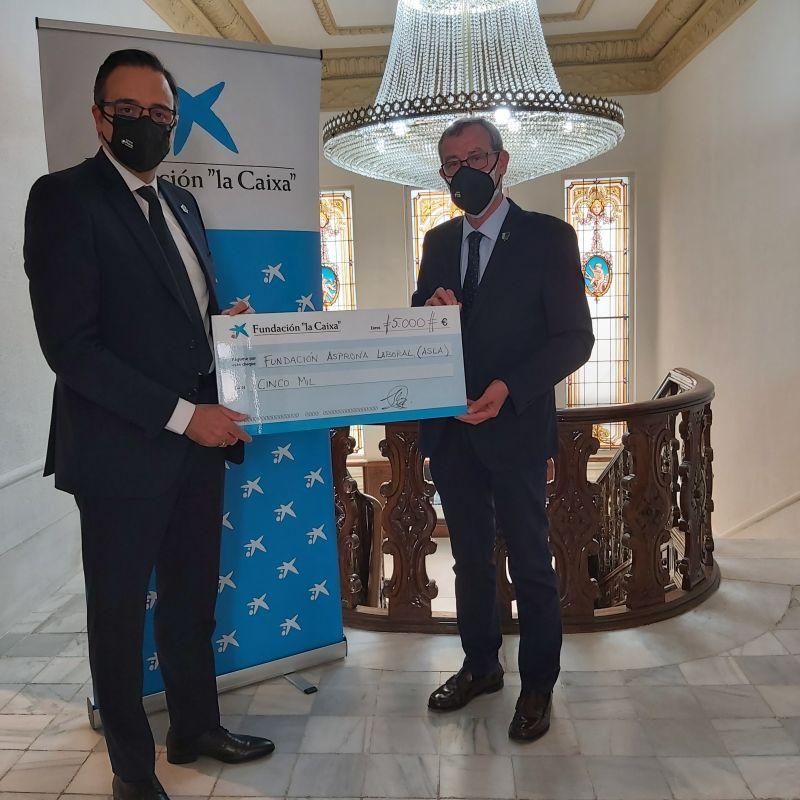 Fundación La Caixa otorga a Asla una donación de 5.000 euros