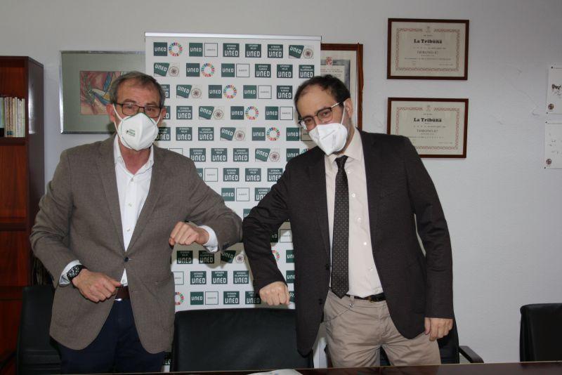 Fundación Asla y la UNED en Albacete firman un convenio de colaboración para la inserción laboral de una persona con discapacidad